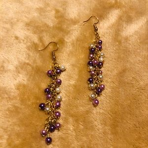 Artisan Gold/Purple Earrings